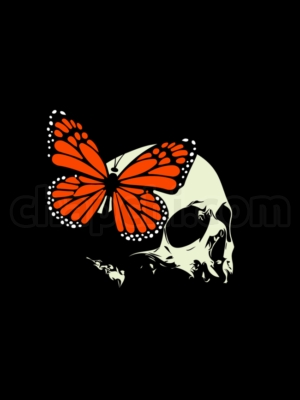 Skull and Butterfly